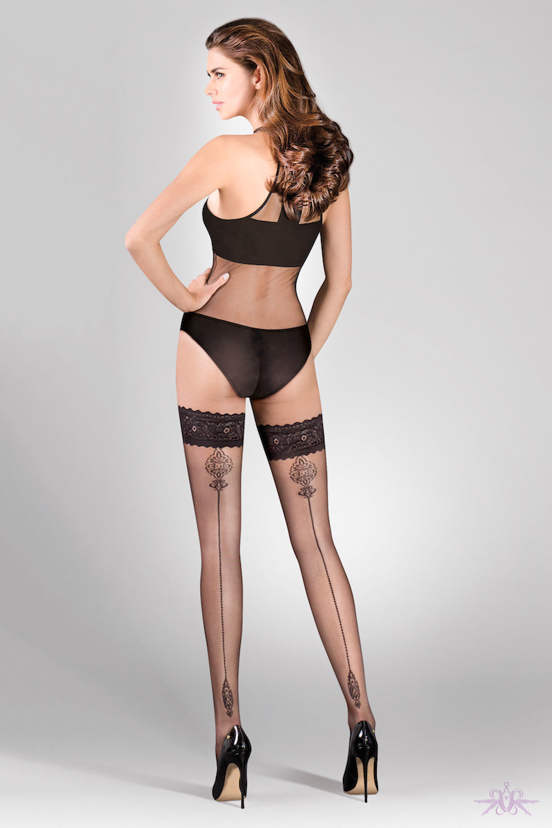 Gabriella Lana Hold Ups - Mayfair Stockings
