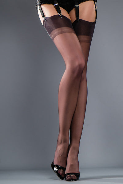 Gio Cuban Heel Fully Fashioned Stockings - Mayfair Stockings