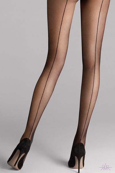 Wolford Individual 10 Back Seam Tights - Mayfair Stockings
