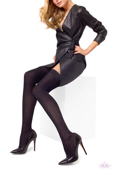 Le Bourget Microfibre 50D Hold Ups - Mayfair Stockings
