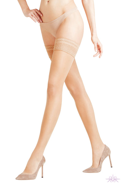 Falke New Seidenglatt 15 (Narrow top) Hold Ups - Mayfair Stockings