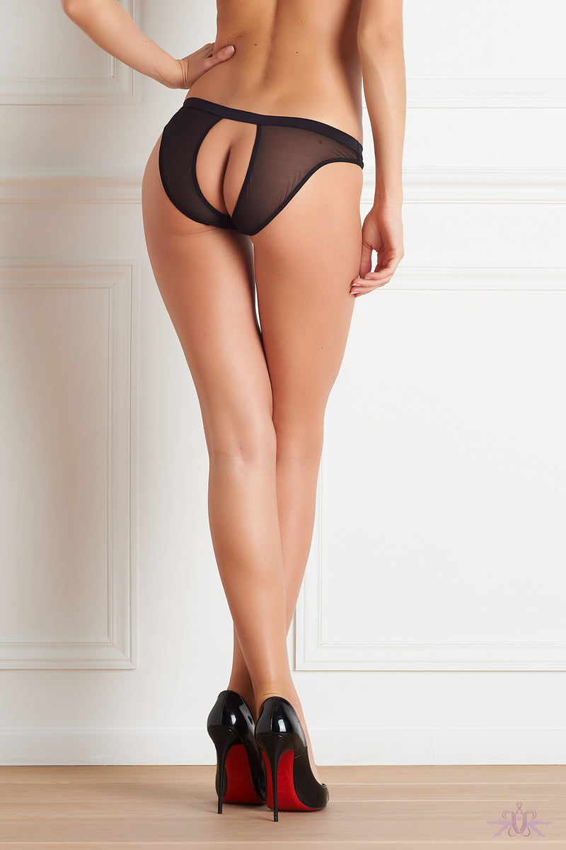 Maison Close Pure Tentation Black Open Panty