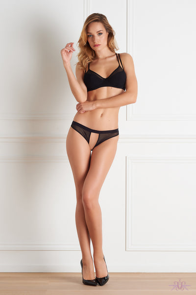 Maison Close Pure Tentation Black Open Panty - Mayfair Stockings
