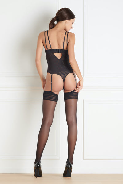 Maison Close Bande à Part V Neck Thong Body - Mayfair Stockings
