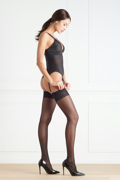 Maison Close Sheer Stripe Stockings - Mayfair Stockings
