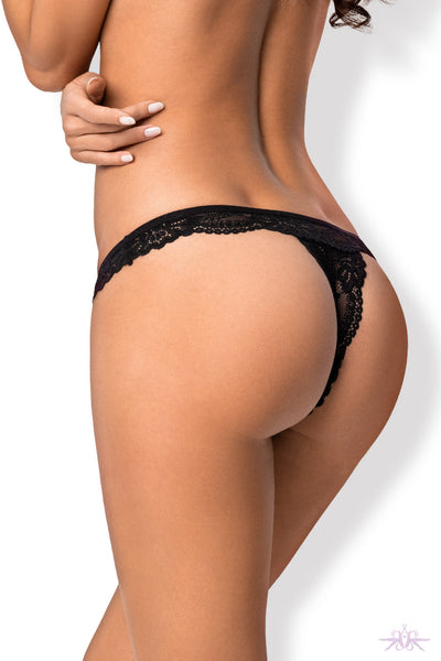 Obsessive Black Thong - Mayfair Stockings