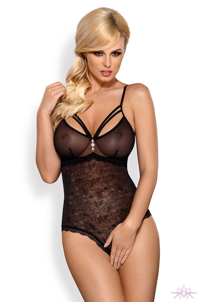 Obsessive Lace Crotchless Bodysuit - Mayfair Stockings