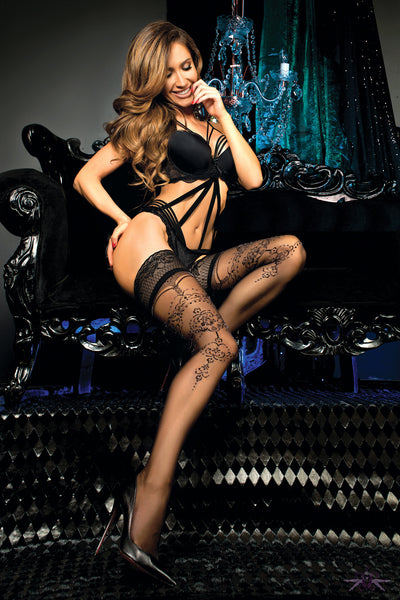 Ballerina Nicole Hold Ups - Mayfair Stockings