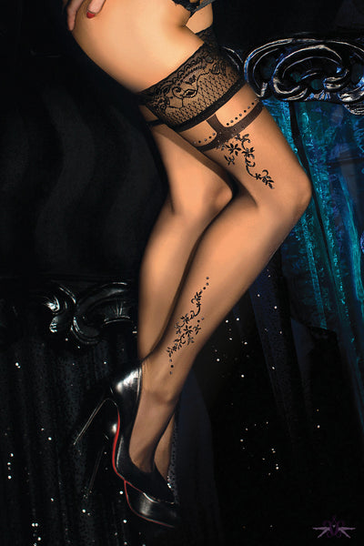 Ballerina Amber Hold Ups - Mayfair Stockings