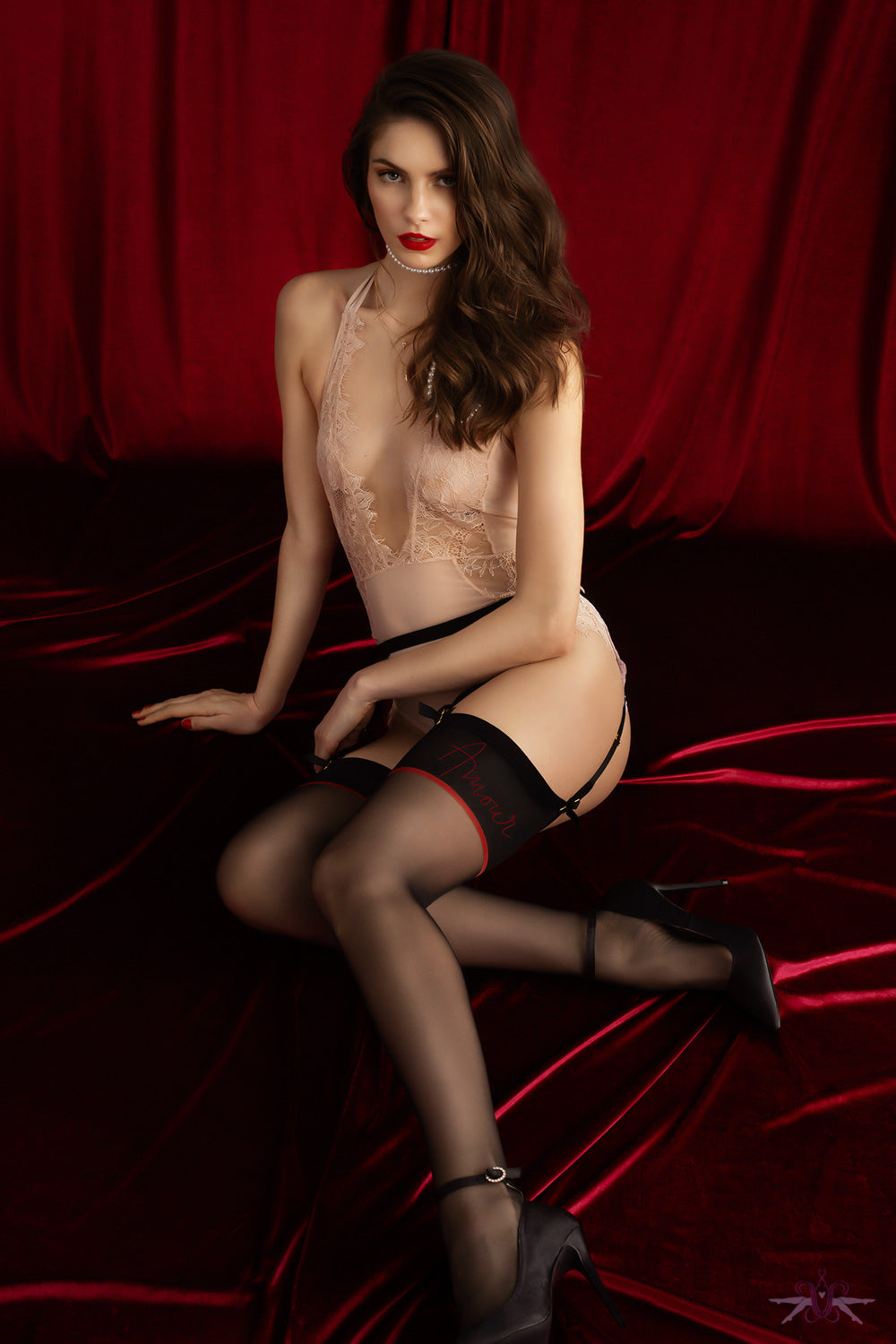 Fiore Amante Stockings - Mayfair Stockings