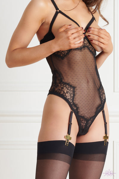 Maison Close Inspiration Divine Naked Breast Body with Suspenders - Mayfair Stockings