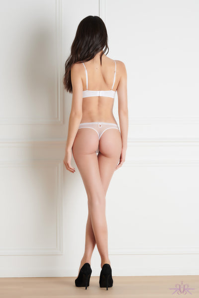 Maison Close La Directrice White Thong - Mayfair Stockings