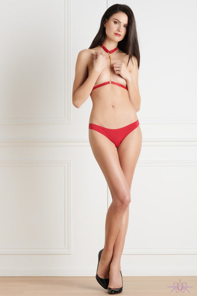 Maison Close Tapage Nocturne Red Panty - Mayfair Stockings