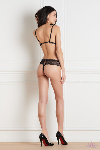 Maison Close Le Petit Secret Dentelle Openable String Tanga - Mayfair Stockings