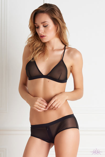 Maison Close Pure Tentation Black Triangle Bra - Mayfair Stockings