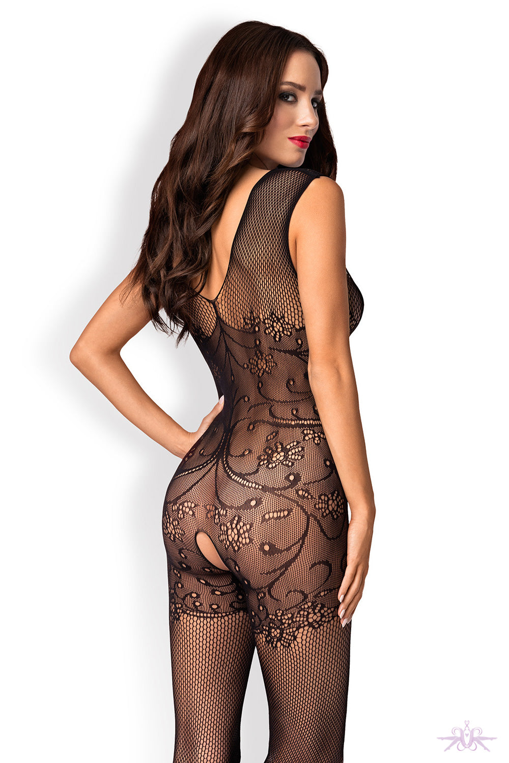 Obsessive V-Neck Fishnet Bodystocking - Mayfair Stockings