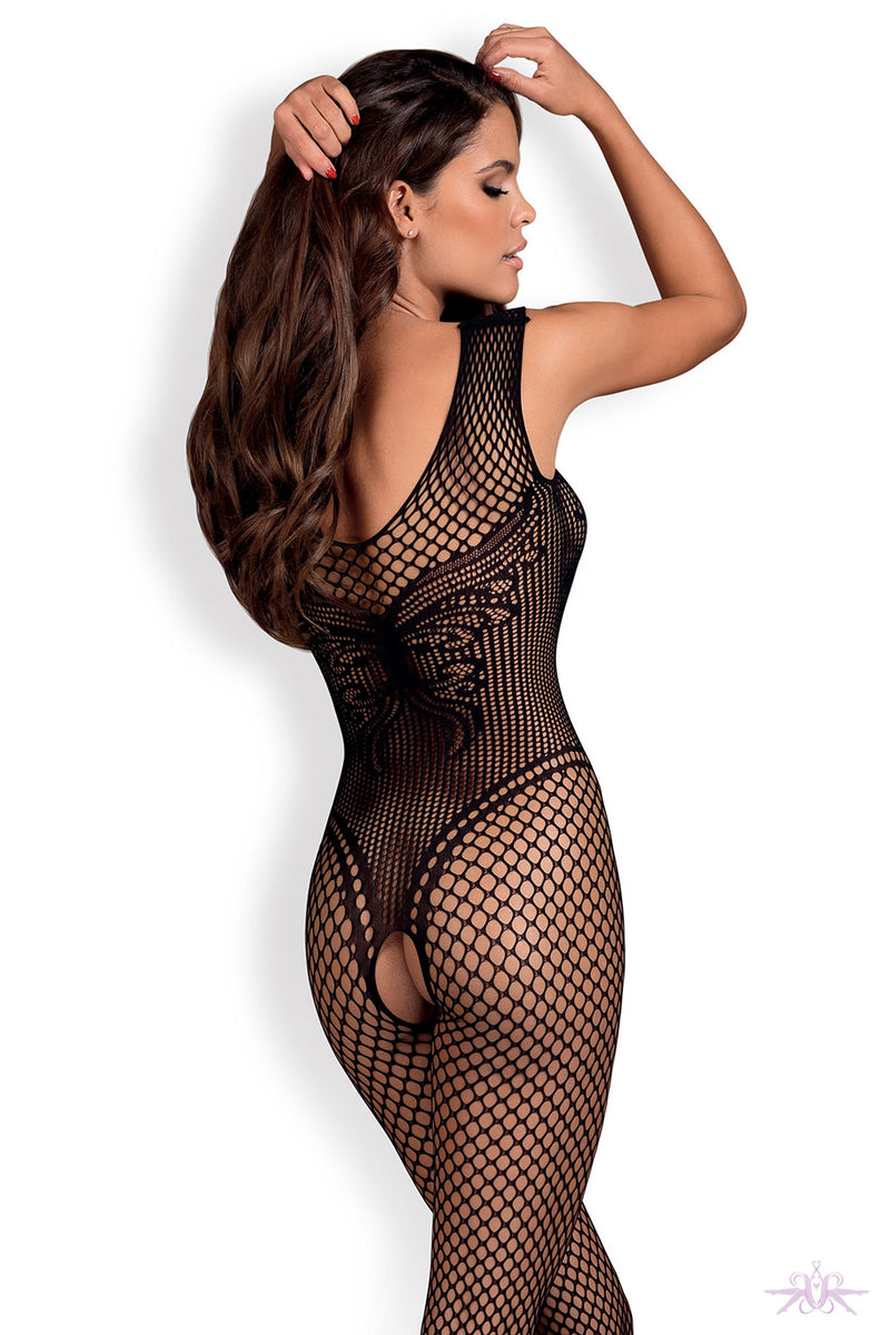 Obsessive Fleur de Lys Fishnet Bodystocking - Mayfair Stockings