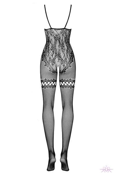 Obsessive Floral Fishnet Bodystocking - Mayfair Stockings
