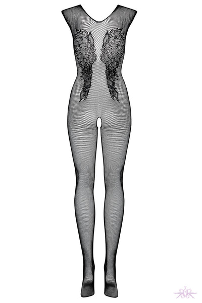 Obsessive Wing Motif Fishnet Bodystocking - Mayfair Stockings