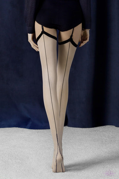Fiore Provoke Seamed Stockings - Mayfair Stockings