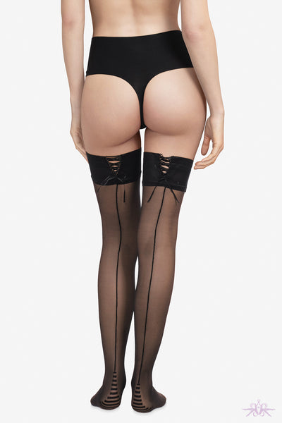 Chantal Thomass Laced Garter Stay Up - Mayfair Stockings