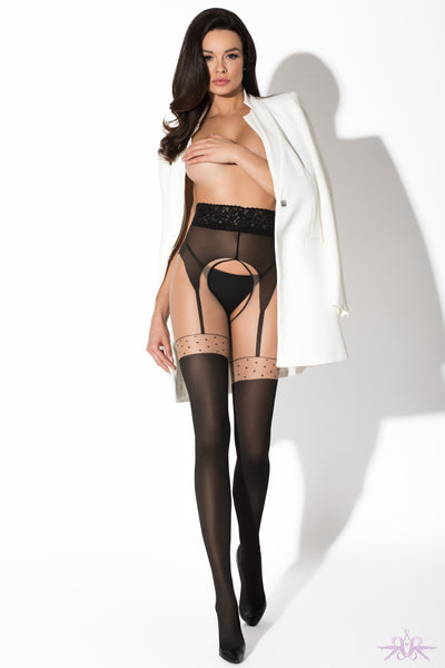 Amour Pin Up Suspender Tights - Mayfair Stockings