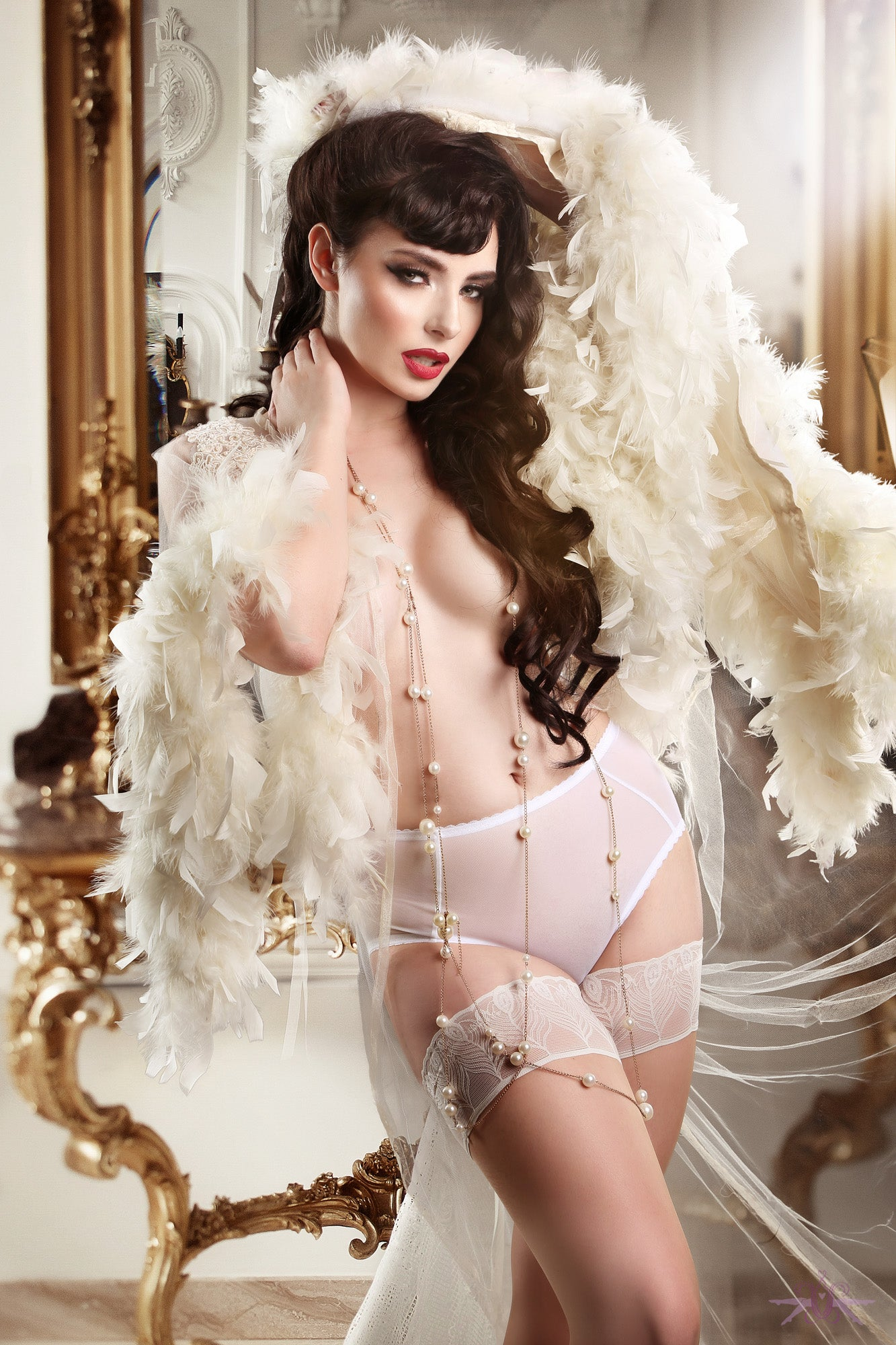 Mayfair Bianca Sheer Open Knickers - Mayfair Stockings
