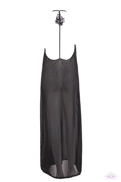 Bluebella Aris Long Black Chemise - Mayfair Stockings