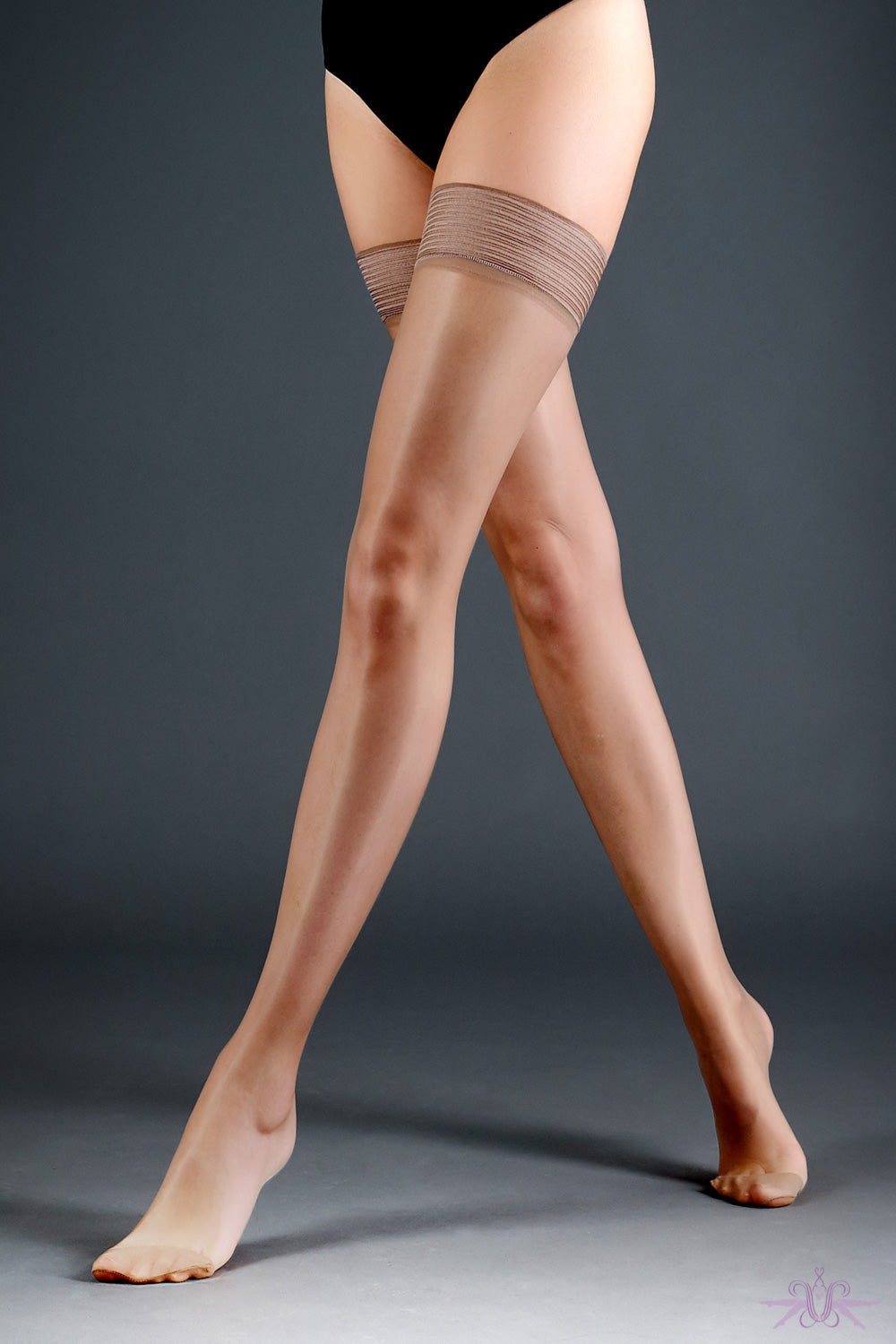 Bluebella Nude Plain Top Hold Ups - Mayfair Stockings
