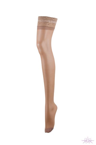 Bluebella Nude Lace Top Hold Ups - Mayfair Stockings