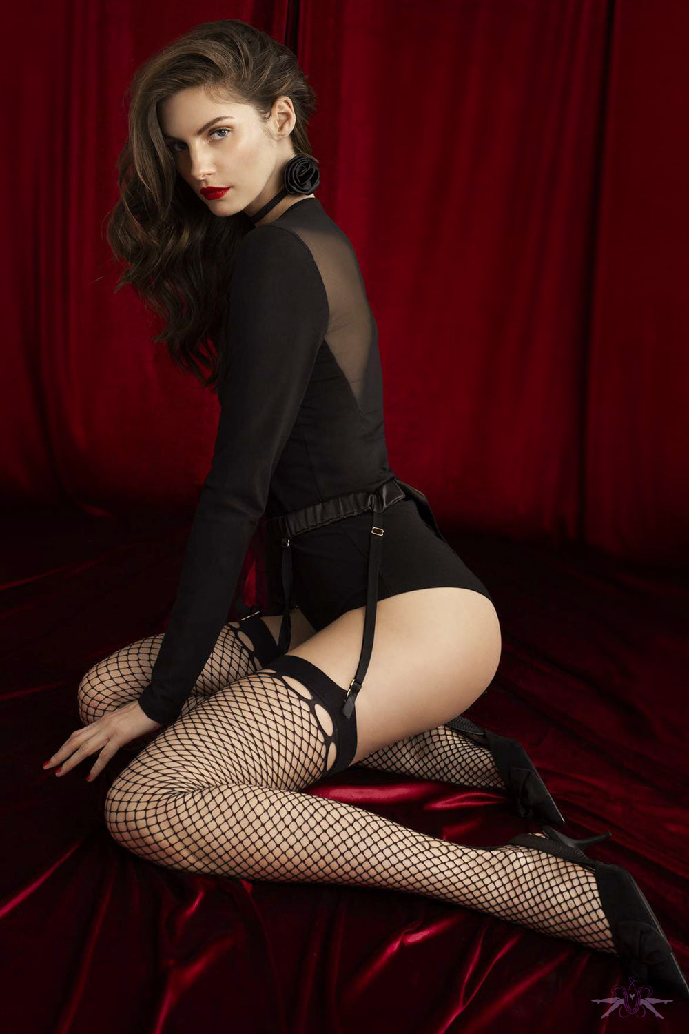 Fiore Sensual Burlesque Fishnet Stockings - Mayfair Stockings