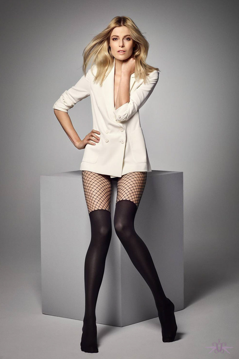 Veneziana Calzerotto Rete Tights - Mayfair Stockings