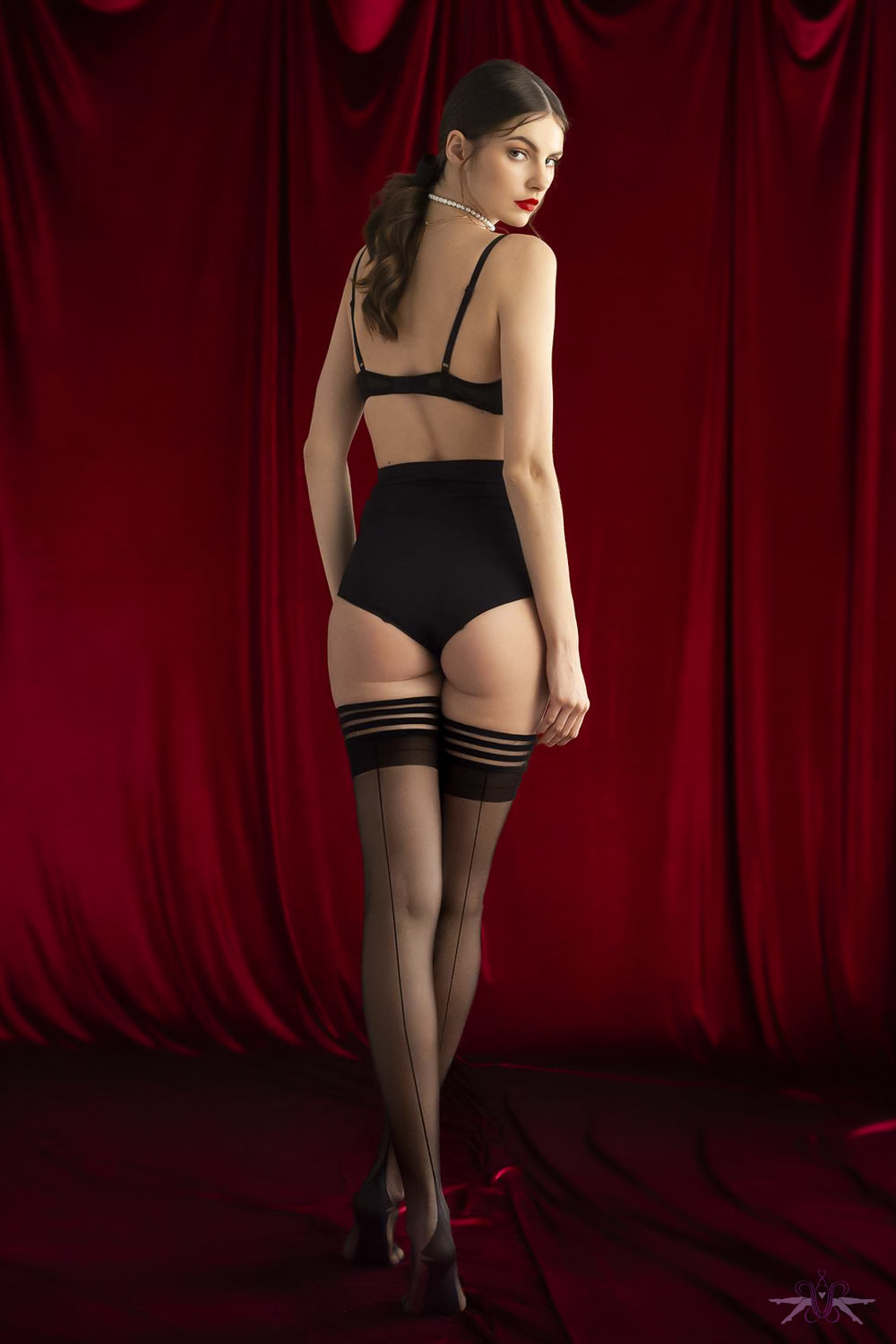 Fiore Sensual Femme Fatale Hold Ups - Mayfair Stockings