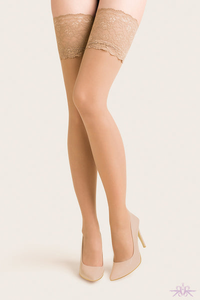 Gabriella Exclusive 15 Deep Lace Hold Ups - Mayfair Stockings