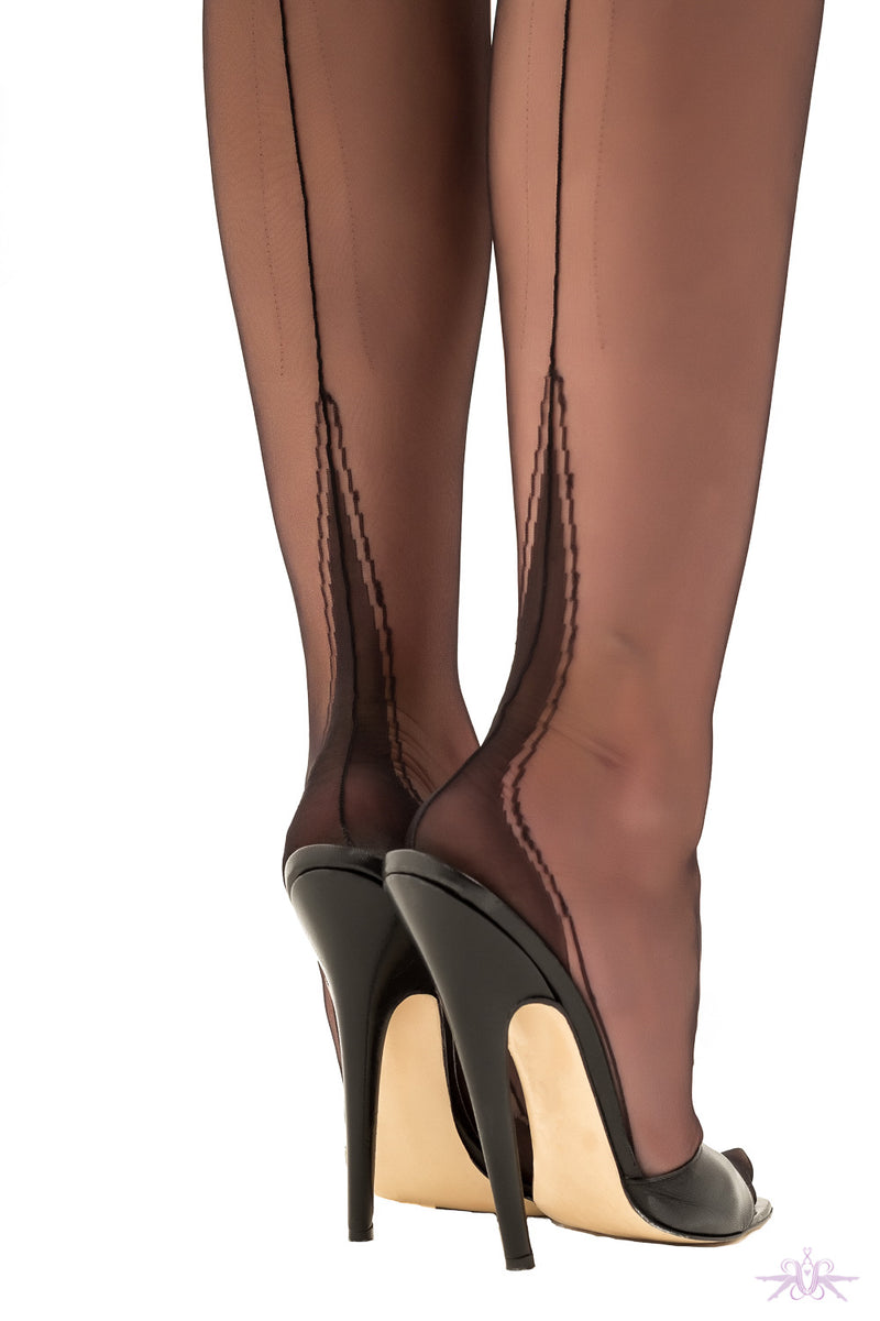 Gio Harmony Point Heel Fully Fashioned Stockings