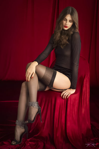 Fiore Sensual Hypnose Sparkle Stockings - Mayfair Stockings