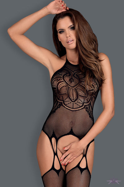 Obsessive Faux Suspender Fishnet Bodystocking - Mayfair Stockings