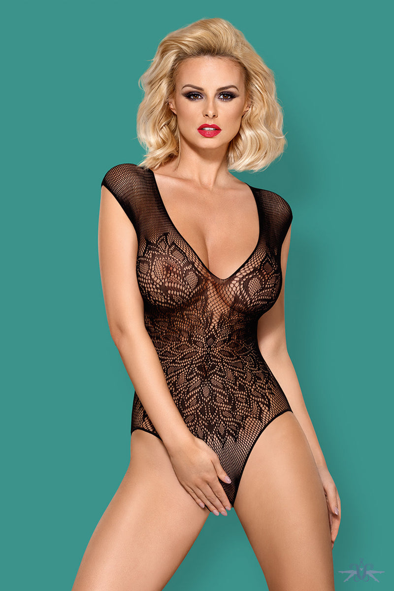 Obsessive Wing Motif Fishnet Bodysuit - Mayfair Stockings