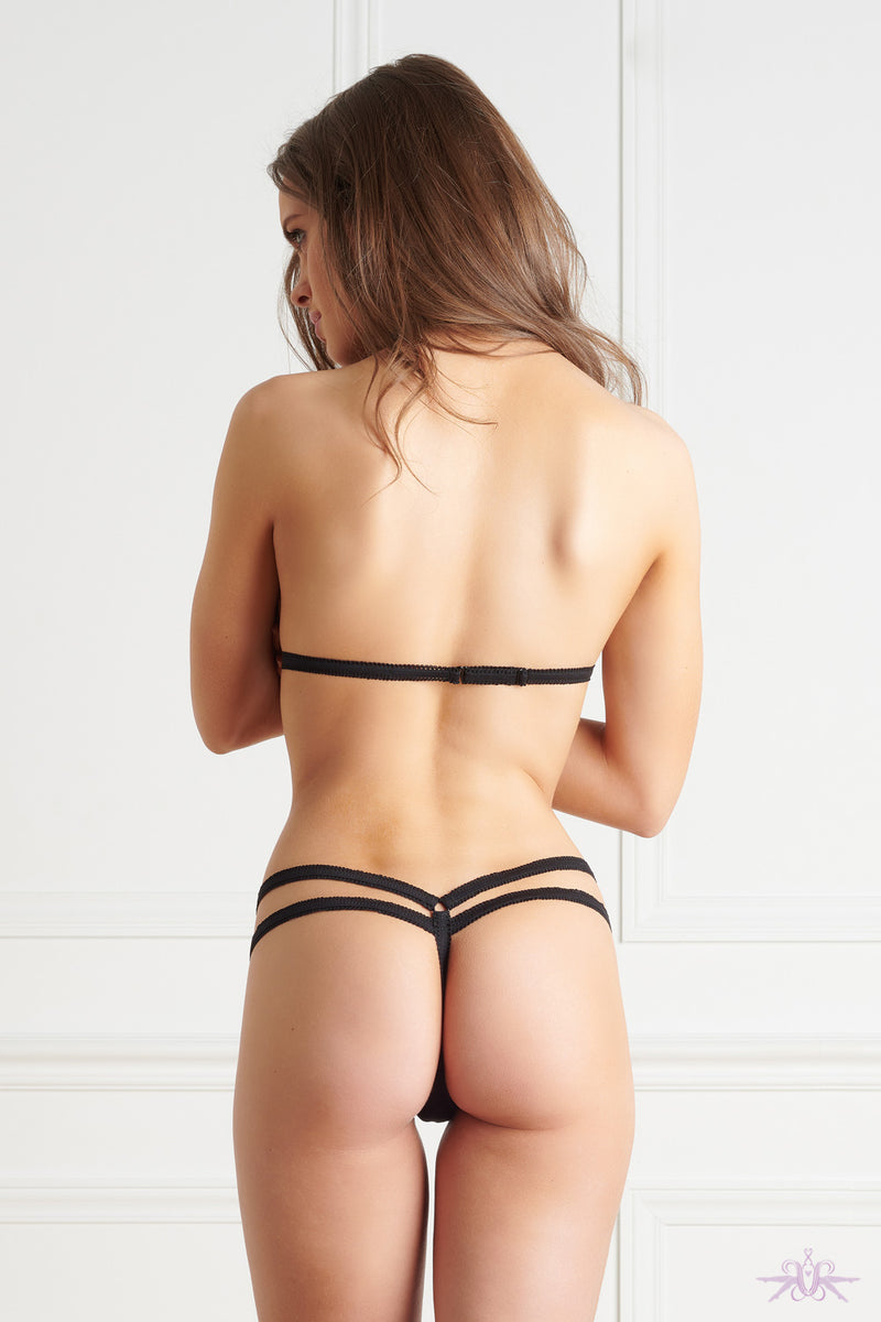 Maison Close Le Petit Secret Black Harness with Thong - Mayfair Stockings
