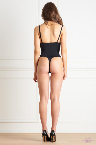 Maison Close Le Petit Secret Black Naked Breast Thong Body - Mayfair Stockings