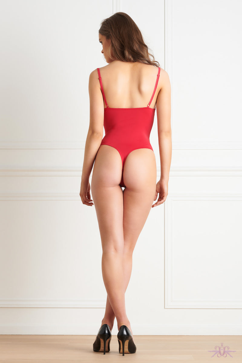Maison Close Le Petit Secret Red Naked Breast Thong Body