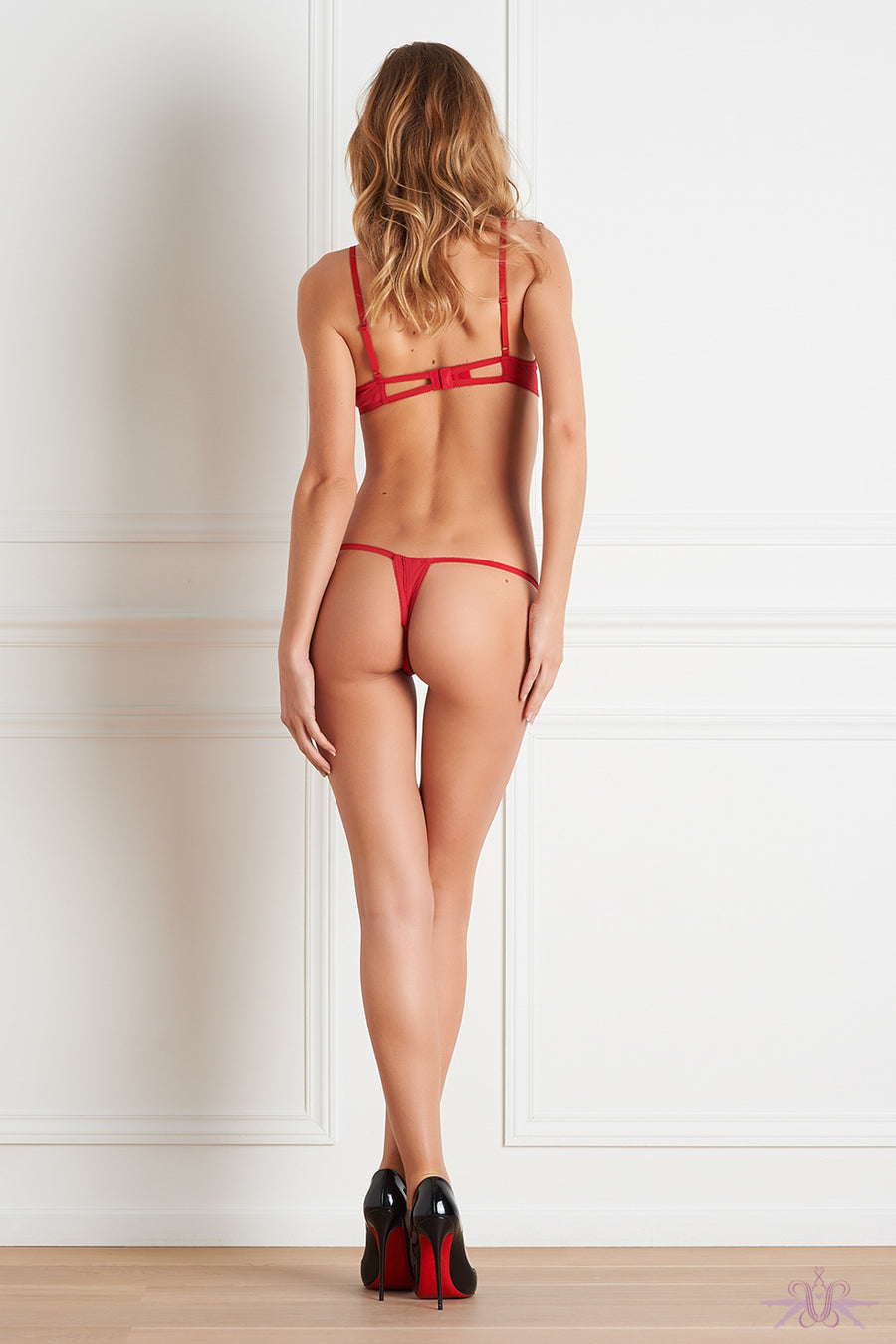 Maison Close Le Petit Secret Red Open Thong