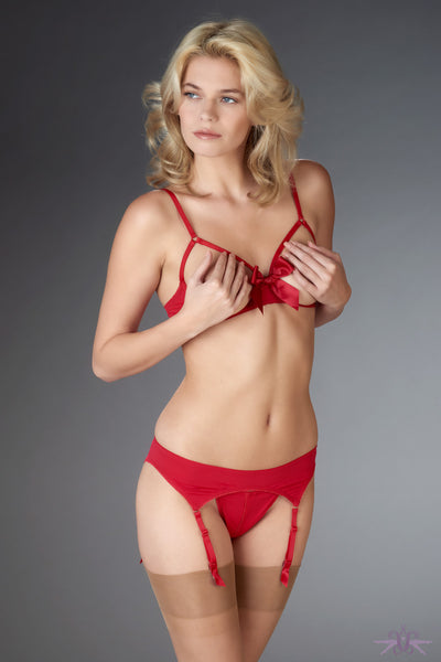 Maison Close Le Petit Secret Red Garter Belt - Mayfair Stockings