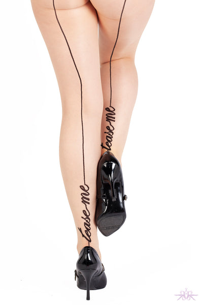Playful Promises Nude Tease Me Tights - Mayfair Stockings