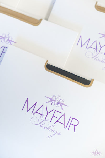 Mayfair Sofia Black Stockings - Mayfair Stockings