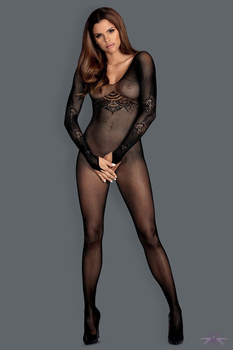 Obsessive Long Sleeved Fishnet Bodystocking - Mayfair Stockings
