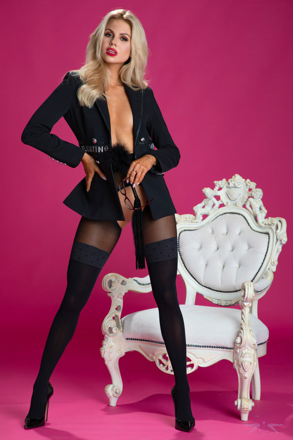 Amour Secretary Open Tights
