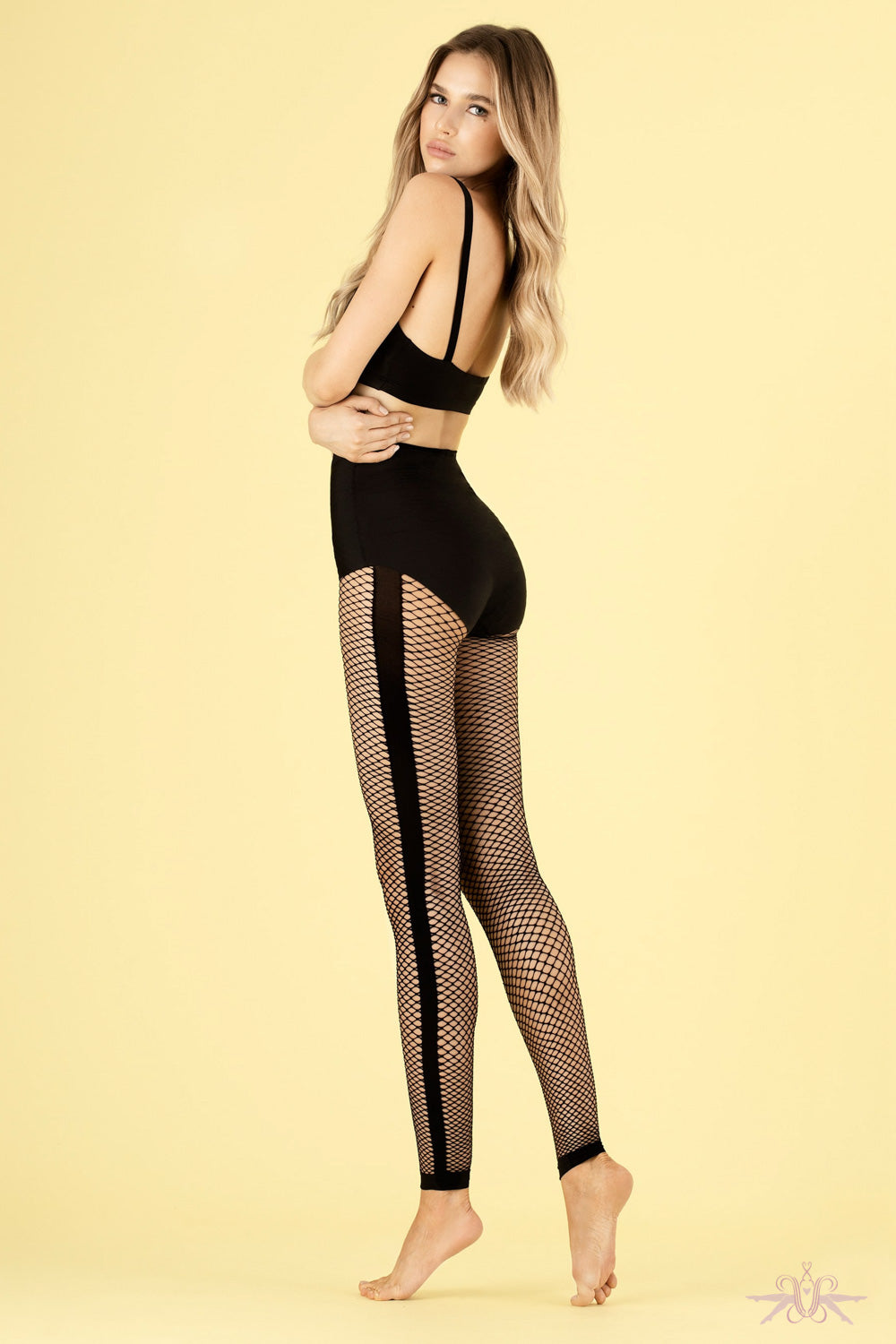 Fiore Blockbuster Fishnet Leggings