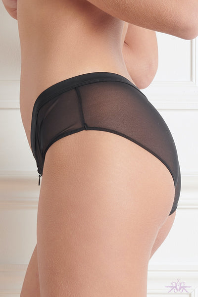 Maison Close Pure Tentation Black Shorty with Zip