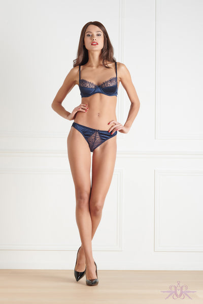 Maison Close Villa Satine Blue Brief - Mayfair Stockings